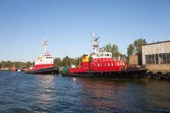 Het schip van de brandredding Stock Foto's