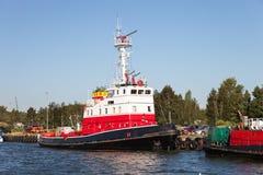 Het schip van de brandredding Royalty-vrije Stock Foto's