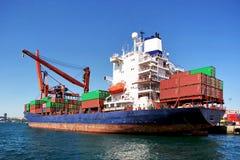 Het schip van de container Stock Foto's
