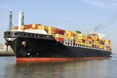 Het schip van de container stock afbeelding