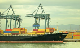 Het schip van de container Stock Foto