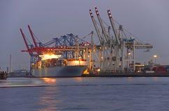 Het schip van de container Hamburg Stock Afbeeldingen