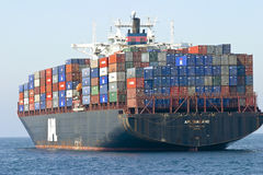 Het Schip van de Container van de lading Royalty-vrije Stock Fotografie