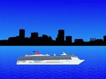 Het schip van de cruise in Baltimore Stock Foto