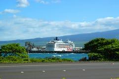 Het schip van de cruise bij thuishaven stock foto's