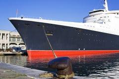 Het schip van de cruise in de haven van Triëst Royalty-vrije Stock Afbeelding