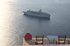 Het schip van de cruise in Griekenland Royalty-vrije Stock Foto's