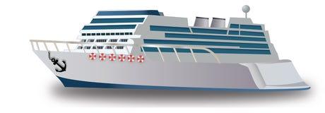 Het Schip van de cruise, illustratie Royalty-vrije Stock Afbeelding