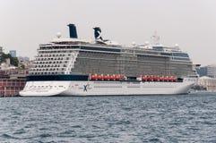 Het Schip van de cruise in Istanboel Royalty-vrije Stock Foto's