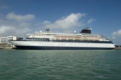 Het schip van de cruise in Miami Royalty-vrije Stock Foto's