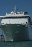 Het schip van de cruise upclose stock fotografie