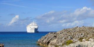 Het schip van de cruise van de Bahamas stock foto