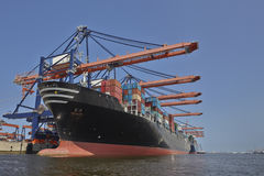 Het Schip van de de Havencontainer van Rotterdam Stock Foto