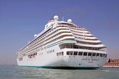 Het schip van de de luxecruise van de Sereniteit van het kristal Royalty-vrije Stock Afbeeldingen