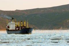 Het schip van de droog-lading Stock Afbeeldingen