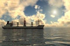 Het schip van de lading (schip) vector illustratie