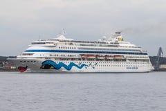 Het schip van de luxecruise Royalty-vrije Stock Afbeeldingen