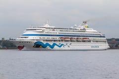 Het schip van de luxecruise Stock Afbeeldingen