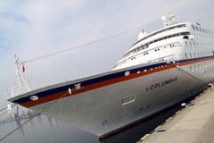 Het schip van de passagier C.COLUMBUS Stock Fotografie