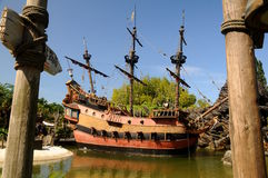 Het schip van de piraat - Disneyland Parijs Royalty-vrije Stock Fotografie