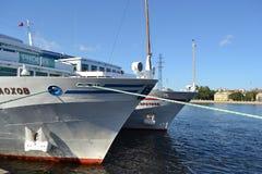 Het schip van de riviercruise Stock Afbeelding