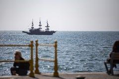 Het schip van de toeristenpiraat stock foto's