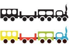 Het schip van de trein royalty-vrije illustratie