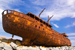 Het schip van de vracht Stock Foto