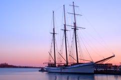 Het Schip van de zonsondergang Stock Foto
