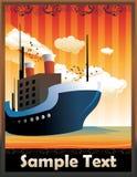 Het schip van het art deco   Stock Fotografie