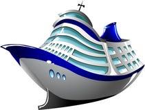 Het schip van het beeldverhaal royalty-vrije illustratie