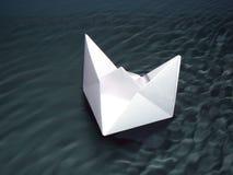 Het schip van het document Stock Afbeelding