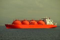 Het schip van het LNG voor aardgas Stock Afbeelding