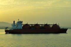Het schip van het LNG voor aardgas Royalty-vrije Stock Afbeeldingen