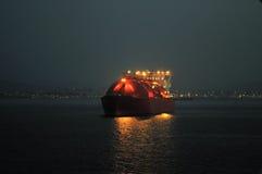 Het schip van het LNG voor aardgas Stock Fotografie