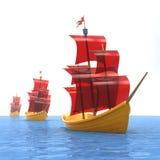 Het schip van het stuk speelgoed Royalty-vrije Stock Foto