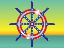 Het schip van het stuurwiel royalty-vrije illustratie
