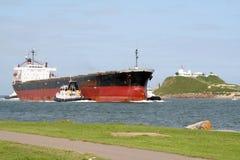 Het schip van het vrachtschip stock afbeelding