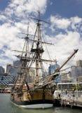 Het Schip van kapitein Cook's Royalty-vrije Stock Afbeeldingen