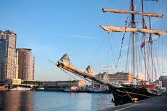 Het schip van Leeuw van de gulden in Gdynia Stock Afbeeldingen