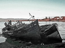 Het schipbreukeneiland van overweegt Stock Foto