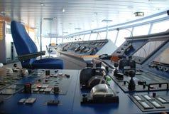 Het schipbrug van de cruise binnen Stock Fotografie