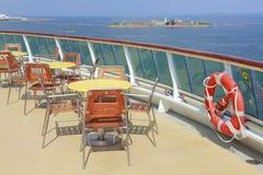 Het schipdek van de cruise Stock Foto
