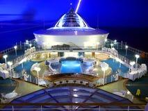 Het schipdek van de cruise Stock Foto's