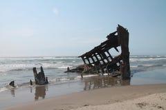 Het Schipwrak van Peter Iredale Stock Fotografie