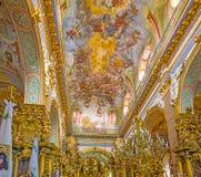 Het schitterende binnenland van kerk Stock Fotografie