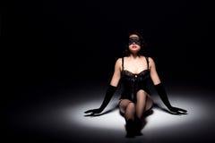 Het schitterende donkerbruine stellen Royalty-vrije Stock Afbeelding