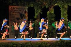 Het schitterende Peruviaanse dansen op het stadium Varna Bulgarije van het de Zomertheater royalty-vrije stock afbeelding
