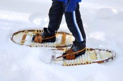 Het schoeien van de sneeuw stock fotografie
