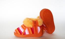 Het schoeisel van de baby Stock Fotografie